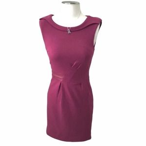 Esley Pink Faux Leather Dress
